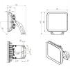 Светодиодный промышленный светильник FFL 11-300-850-F30