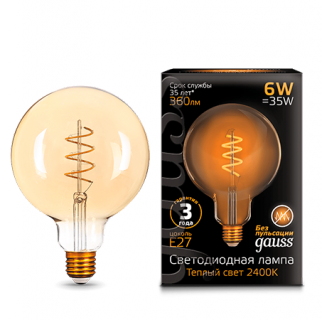 Лампа Gauss LED  Filament G120 Flexible